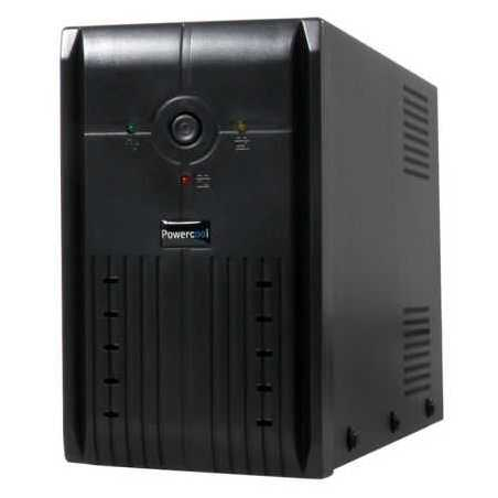 Powercool 1200VA Smart UPS, 720W, LED Display, 3 x UK Plug, 2 x RJ45, 3 x IEC, USB