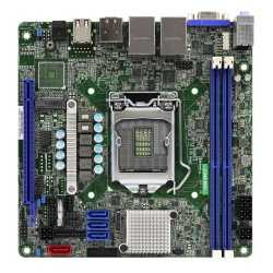 Asrock Rack C246 WSI Server Board, Intel C246, 1151, Mini ITX, VGA, HDMI, DP, Dual GB LAN