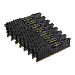 Corsair Vengeance LPX 128GB Kit (8 x 16GB), DDR4, 2666MHz (PC4-21300), CL16, XMP 2.0, DIMM Memory