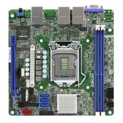 Asrock Rack E3C246D2I Server Board, Intel C246, 1151, Mini ITX, DDR4, VGA, Dual GB LAN, IPMI LAN, M.2