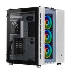 Corsair Crystal Series 680X RGB Gaming Case with Window, ATX, 4 x 12cm Fans, USB 3.0, White & Black
