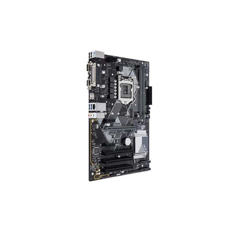 Black ASUS PRIME H310-PLUS Intel LGA-1151 ATX LED Lighting DDR4 2666MHz M.2 Support HDMI SATA 6 Gbps and USB 3.1 Gen 1 Motherboard
