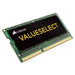 Corsair Value Select 4GB, DDR3L, 1333MHz (PC3-10600), CL9, SODIMM Memory, Single Rank