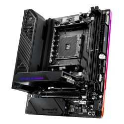 Asus ROG CROSSHAIR VIII IMPACT, AMD X570, AM4, Mini DTX, Wi-Fi, 2 x M.2 + SO-DIMM.2 Card (Dual M.2), RGB Lighting