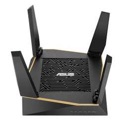 Asus (RT-AX92U) AiMesh WiFi System, AX6100 (400+867+4804) Tri-Band, 802.11ax, AiProtection Pro, Flexible SSID
