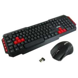 Jedel WS880 Wireless Gaming Desktop Kit, Nano USB, Multimedia Keyboard with Colour Coded Keys, 800-2000 DPI Mouse
