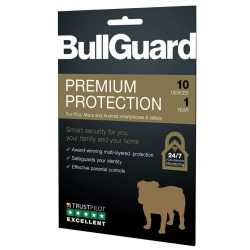 Bullguard Premium Protection 2020, 10 User Licence - 10 Pack, Retail, PC, Mac & Android, 1 Year