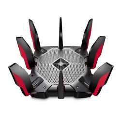 TP-LINK (Archer AX11000) AX11000 (1148+4804+4804) Wireless Tri-Band Gaming Router, 8-Port, 2.5Gbps WAN, MU-MIMO, USB 3.0 A&C