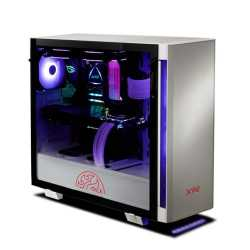 ADATA XPG Invader RGB Gaming Case with Tempered Glass Window, ARGB Downlight & Controller, Magnetic Design, White