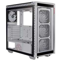 ADATA XPG Battlecruiser Super RGB Gaming Case with 4x Tempered Glass Sides, E-ATX, 4 x ARGB Fans & Controller, White