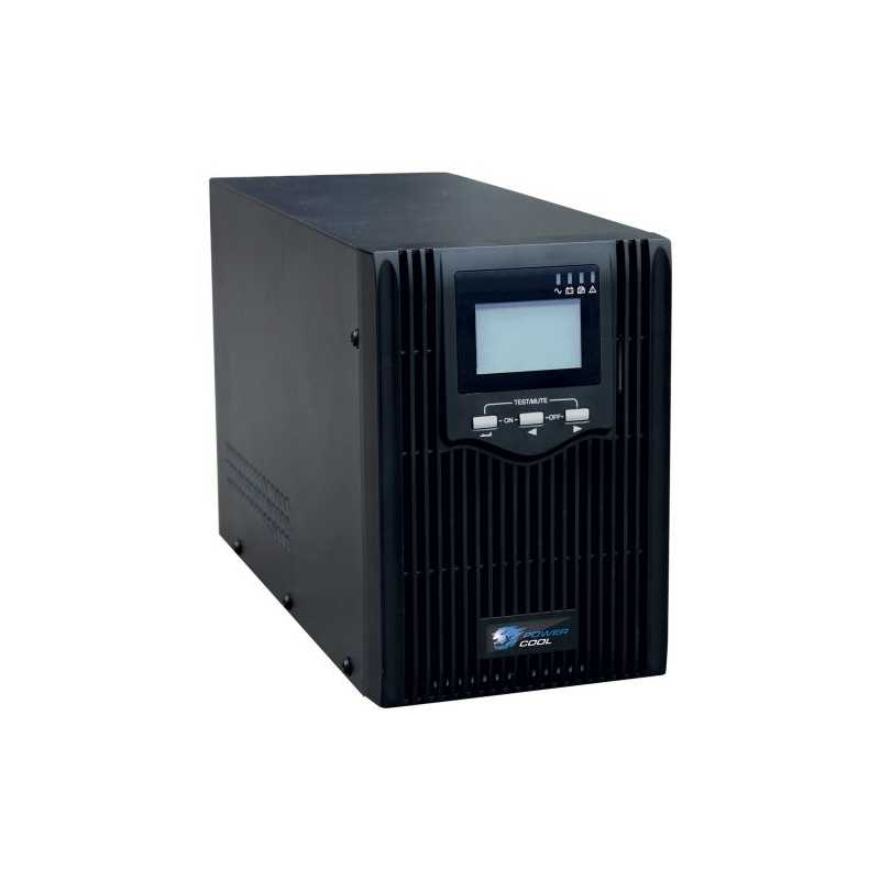 Powercool 2000VA Smart UPS, 1600W, LCD Display, 2 x UK Plug, 2 x RJ45, 3 x IEC, USB