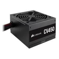 Corsair 450W CV Series CV450 PSU, Sleeve Bearing Fan, Fully Wired, 80+ Bronze
