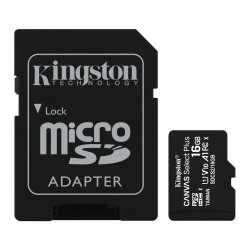 Kingston 16GB Canvas Select Plus Micro SD Card with SD Adapter, UHS-I Class 10 with A1 App Performance