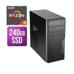 Spire Tower PC, Antec VSK3000B, Ryzen 3 2200G, 8GB, 240GB SSD, Corsair 450W, DVDRW, KB & Mouse, No Operating System