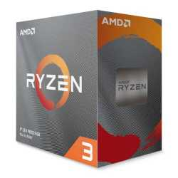 AMD Ryzen 3 3100 CPU with Wraith Stealth Cooler, AM4, 3.6GHz (3.9 Turbo), Quad Core, 65W, 18MB Cache, 7nm, 3rd Gen, No Graphics,