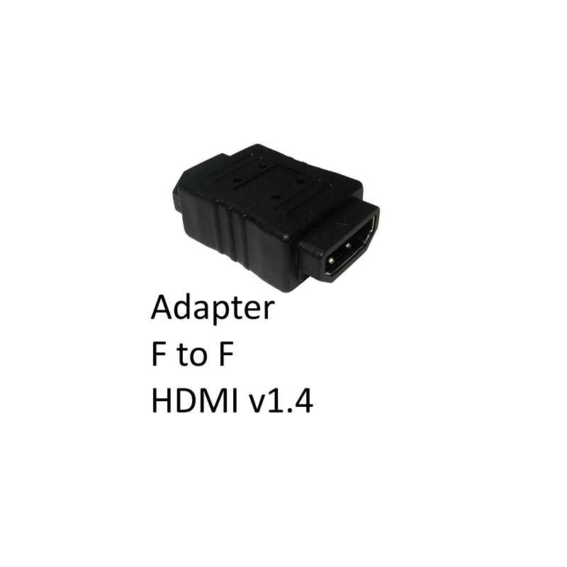 HDMI 1.4 (F) to HDMI 1.4 (F) Black OEM Gender Changer Adapter