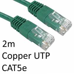 RJ45 (M) to RJ45 (M) CAT5e 2m Green OEM Moulded Boot Copper UTP Network Cable