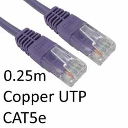 RJ45 (M) to RJ45 (M) CAT5e 0.25m Violet OEM Moulded Boot Copper UTP Network Cable