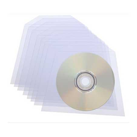 Clear Disk Sleeves 100 pack 70 Micron