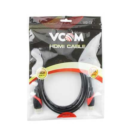 VCOM HDMI 2.0 (M) to HDMI 2.0 (M) 3m Black 4K Supported Retail Packaged Display Cable