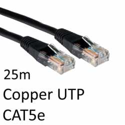 RJ45 (M) to RJ45 (M) CAT5e 25m Black OEM Moulded Boot Copper UTP Network Cable