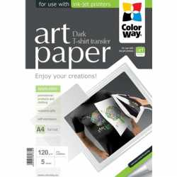 ColorWay Art T-shirt transfer Paper Dark 120g/m A4 5 Sheets