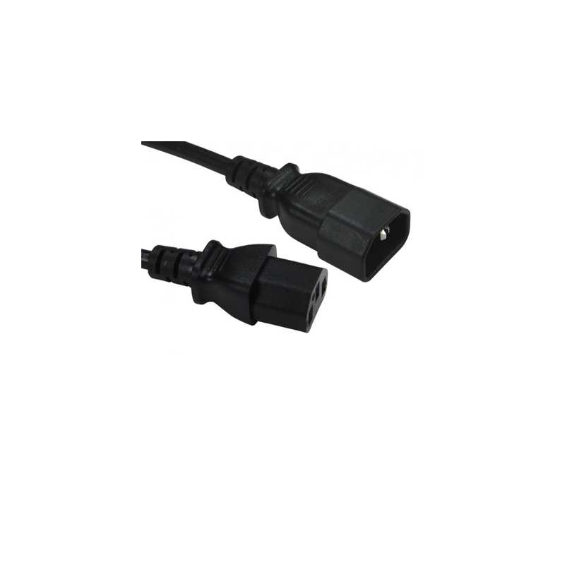IEC Kettle C13 (M) to IEC Kettle C14 (F) 1.8m Black OEM Power Extension Cable