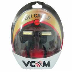 VCOM DVI-D (M) to DVI-D (M) 1.8m Black Retail Packaged Display Cable