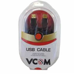 VCOM USB 2.0 A (M) to USB 2.0 A (M) 5m Black Retail Packaged Data Cable