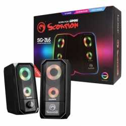 Marvo Scorpion SG-265 Black with RGB LED Stereo Gaming Speakers