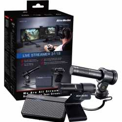 AVerMedia BO311S Live Streamer 311S Full Streaming Starter Kit (Webcam, Mic and Capture Device)