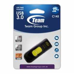 Team C145 32GB USB 3.0 Yellow USB Flash Drive