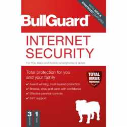 Bullguard Internet Security 2020 1Year/3 Device Multi Device Single Retail Licence English