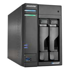 ASUSTOR AS6602T Lockerstor 2-Bay NAS Enclosure (No Drives), Quad Core CPU, 4GB DDR4, USB 3.2, 2 x 2.5G LAN,  2 x M.2 NVMe
