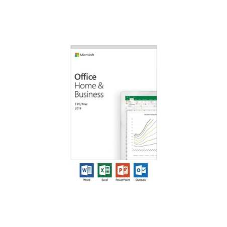 Microsoft Office 2019 Home and Business English Medialess Software Lifetime Subscription