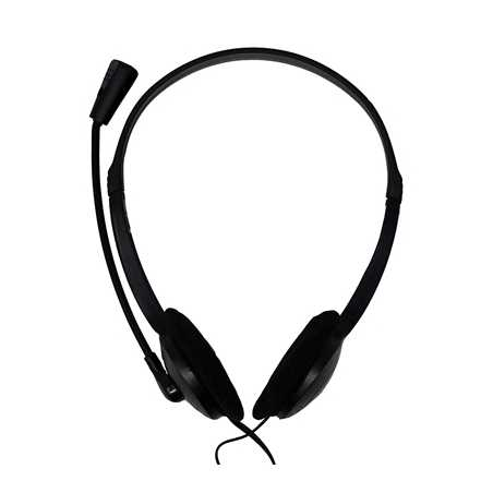 Xclio Home & Office Noise Cancelling Stereo Head Set with Microphone 3.5mm Jack Black