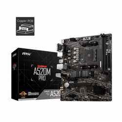 MSI A520M PRO AMD Socket AM4 Micro ATX VGA/HDMI/DIsplayPort USB 3.2 Gen1 M.2 Motherboard