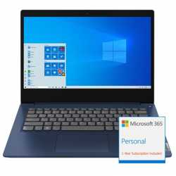 Lenovo Ideapad 3 81WD00EMUK Core i3-1005G1 4GB RAM 128GB SSD 14inch Full HD Windows 10 S Laptop Abyss Blue - Includes 1 Year Mic