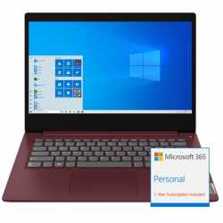 Lenovo Ideapad 3 81WD00ENUK   Core i3-1005G1 4GB RAM 128GB SSD 14inch Full HD Windows 10 S Laptop Cherry Red - Includes 1 Year M