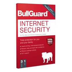 Bullguard Internet Security 2021 Retail Box - Single 3 User Licence - 1 Year - PC, Mac & Android