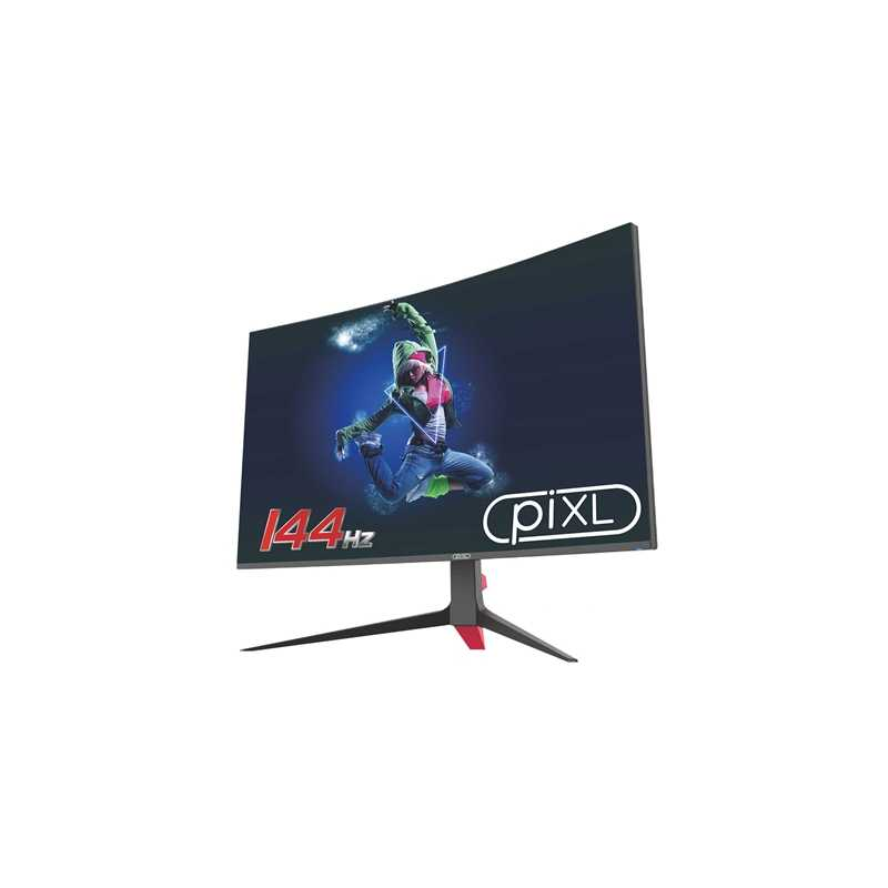 """piXL 27"""" LED 144Hz Widescreen Display Port / HDMI Frameless 5ms Curved Monitor"""