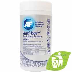 Anti-bacterial sanitizing screen wipes tub of 60