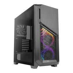 Antec DP502 FLUX RGB Gaming Case with Tempered Glass Window, ATX, No PSU, 5 x Fans (3 Front ARGB), Advanced Ventilation