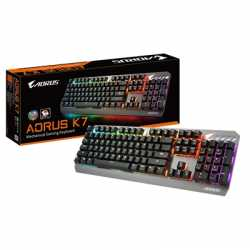 Gigabyte Aorus K7 USB RGB Fusion 2.0 LED Gaming Keyboard with Mechanical Cherry MX Red Switches