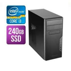 Spire Tower PC, Antec VSK3000B, i3-9100, 8GB, 240GB SSD, Corsair 450W, DVDRW, KB & Mouse, No Operating System