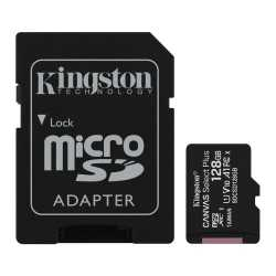 Kingston 128GB Canvas Select Plus Micro SDXC Card with SD Adapter, Class 10 with A1 App Performance