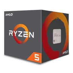 AMD Ryzen 5 2600 CPU with Wraith Cooler, AM4, 3.4GHz (3.9 Turbo), 6-Core, 65W, 19MB Cache, 12nm, 2nd Gen, No Graphics, Pinnacle