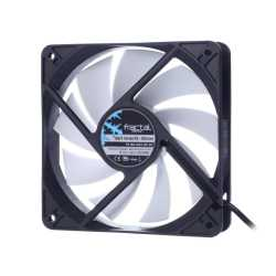 Fractal Design Silent Series R3 12cm Case Fan, Rifle Bearing, 1200 RPM, Black/White