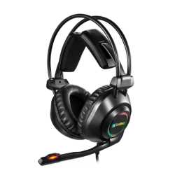 Sandberg Savage Gaming Headset, USB, 7.1 Surround, 50mm Drivers, Comfortable Padding, LED Lighting, 5 Year Warranty
