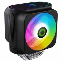 GameMax Gamma 600 Universal Socket 120mm PWM 2000RPM Addressable RGB LED Fan CPU Cooler with Wired Addressable RGB Controller